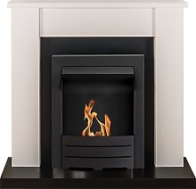 Solus Fireplace Suite in Black & White with
