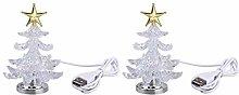 SOLUSTRE 2pcs Christmas Tree Light with Star