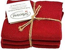 Solwang/Wiping Cloth Set of 3Dark Red