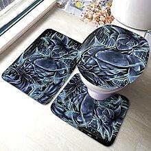 Son Goku Kakarotto Bathroom Rugs Set Non-Slip
