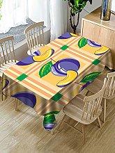 SONG Rectangular Decorative Tablecloth,Fresh Fruit