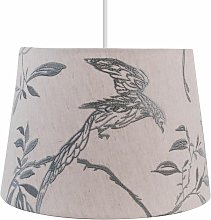 Songbird Natural Linen with Duck Egg Embroidery