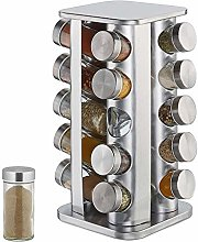 SONGJOY Stainless Steel Spice Rack with 20 Spice