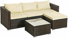 Songmics - 5-Piece Patio Furniture Set, PE Rattan
