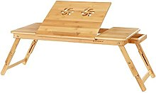 SONGMICS Bamboo Laptop Desk, Foldable Bed Table,