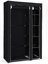 SONGMICS Double Canvas Wardrobe Clothes Storage