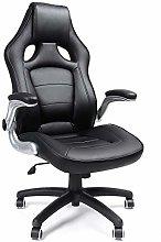 SONGMICS Office Desk Chair with Foldable Armrest