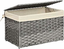 SONGMICS Rattan-Style Storage Box, Indoor Storage