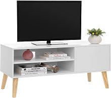Songmics - VASAGLE Scandinavian TV Stand, Retro TV