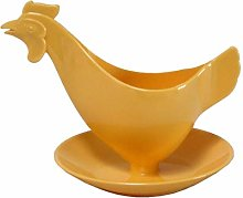 Sonja Plastic Egg Cup Chicken Pastel Yellow Made