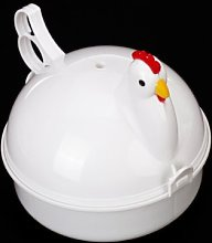 Sonline Chicken Shaped Plastic Microwave Egg