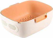 Sonline Double Drain Basket Bowl Rice Washing