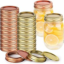 Sonline Mason Jar Mouth Canning Lids and Bands