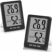 Sonomo Room Thermometer Indoor Digital Hygrometer