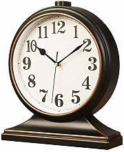 Sooiy Mantle Desk Clock, Mute,Desk Decoration