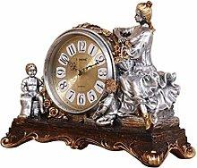 Sooiy Table clock mantle clock living room bedroom