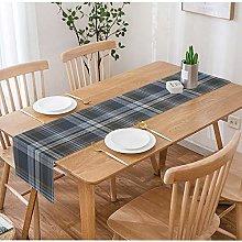 SOPARLLY Plaid Table Runner,Plaid Check Seamless