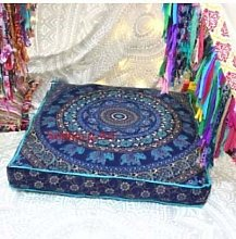 Sophia Art Indian Elephant Mandala Floor Pillow