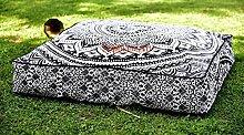 Sophia Art Indian Grey ombre Mandala Floor Pillow
