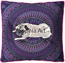Sophia Art Indian Mandala Floor Pillow Square