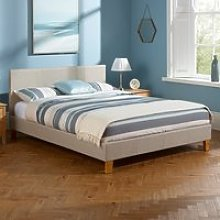 Sophia Linen Fabric Upholstered Double Bed