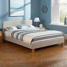 Sophia Linen Fabric Upholstered Super King Size Bed