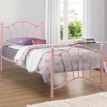 Sophia Pink Metal Bed Frame - 3ft Single