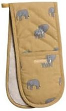 Sophie Allport - Elephant Double Oven Glove - Brown
