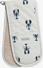 Sophie Allport Lobster Double Oven Glove, Blue
