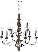 Soraya 9-Light Candle Style Chandelier Marlow Home