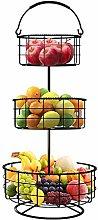 Sorbus 3-Tier Countertop Fruit Basket Holder &