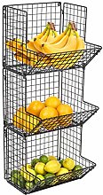 Sorbus 3-Tier Fruit Stand & Wall Mount Kitchen