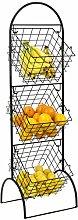 Sorbus 3-Tier Wire Market Basket Storage Stand for
