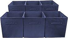 Sorbus Foldable Storage Cube Basket Bin (6 Pack,