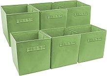 Sorbus Foldable Storage Cube Basket Bin, Green,