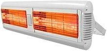 Sorrento 3.0kW Quartz Patio Heater - White -