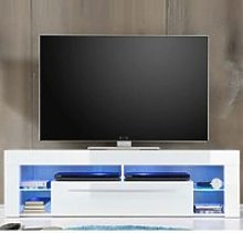 Sorrento Lowboard TV Stand In White High Gloss