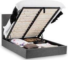 Sorrento Slate Grey Ottoman Fabric Bed Frame -