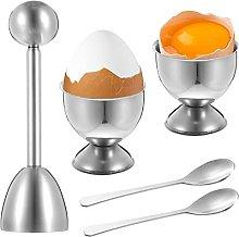SOSPIRO 5pcs Egg Cutter Topper Set Egg Cracker