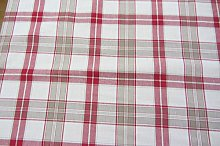 Sothwold Check Cotton red Designer Material Sewing