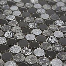 Soul Grey Designer Mosaic Tiles Sheet for Walls