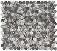 Soul Grey Designer Mosaic Tiles Sheet for Walls
