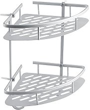 SOULONG 2 Tier Shower Caddy, Large Aluminium