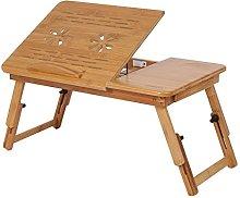 SOULONG Laptop Bed Desk, 1Pc Adjustable Bamboo