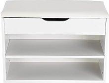 SOULONG Shoe Storage Bench, 2 Tiers Wooden Shoe