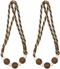 sourcing map 2 Pack Curtain Tiebacks 30 Inch