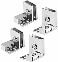 sourcing map 2 Pair Glass Door Hinge Cupboard
