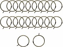 sourcing map 20 Pack Metal Curtain 2.5 Inch Rings