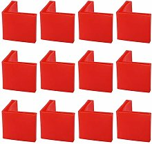 sourcing map 25 x 25mm Angle Iron Foot Pads L