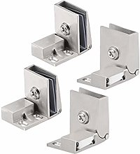 sourcing map 2Pair Glass Door Hinge Cupboard